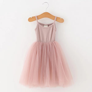 Lilyana Tutu Dress Girl | Vintage Pink - Adassa Rose