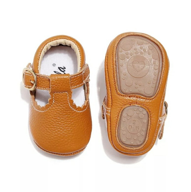 Leather Mary Janes Baby | Chestnut