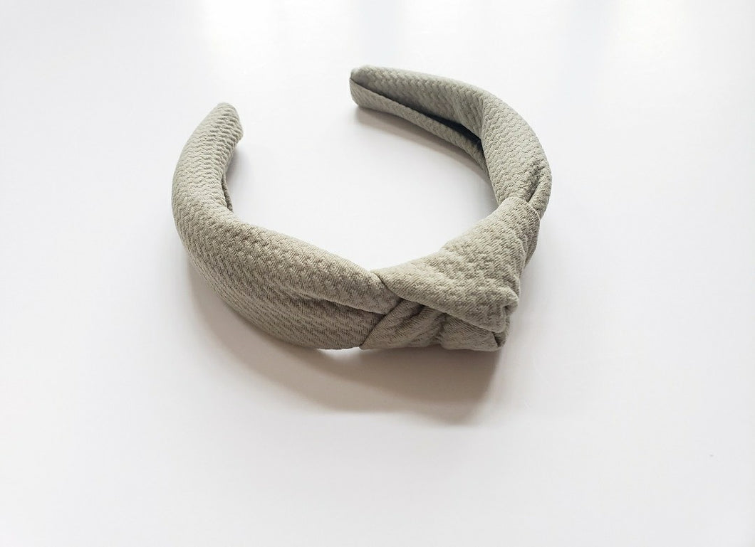 Knot Hard Headband | Sage
