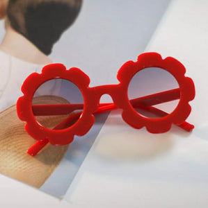 Flower Sunnies Kids Sunglasses | Red