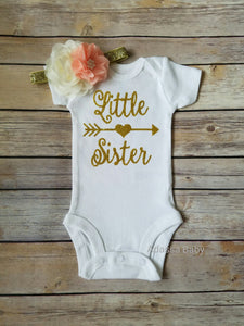 Little Sister Onesie Gold - Adassa Rose