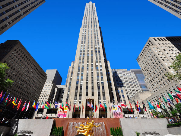 Rockefeller Center seen from below. Beautiful example for Art Deco design