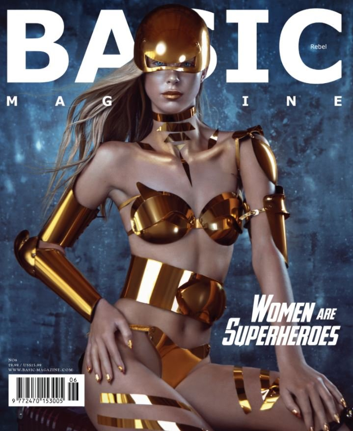 Beverly Hills based BASIC Magazine Superheroes edition - Women are Superheroes - is featuring the KHAMAMA RAJAH BROOKE iPhone Case