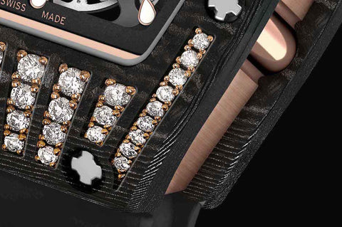 The Richard Mille RM 07-01 In Gem-Set Black Ceramic - Gem Stones directly set into Black Ceramic