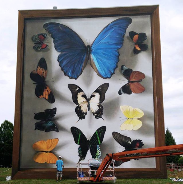 "(Wall painting named ""Yasuni's Imago"" in Thionville, France made by Mantra in July 2017)"