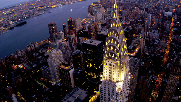 Chrysler building top view. The best Art Deco building in the world