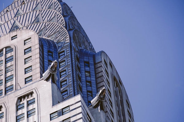 The exterior sculpture features which make the Chrysler building the most beautiful Art Deco building in the world
