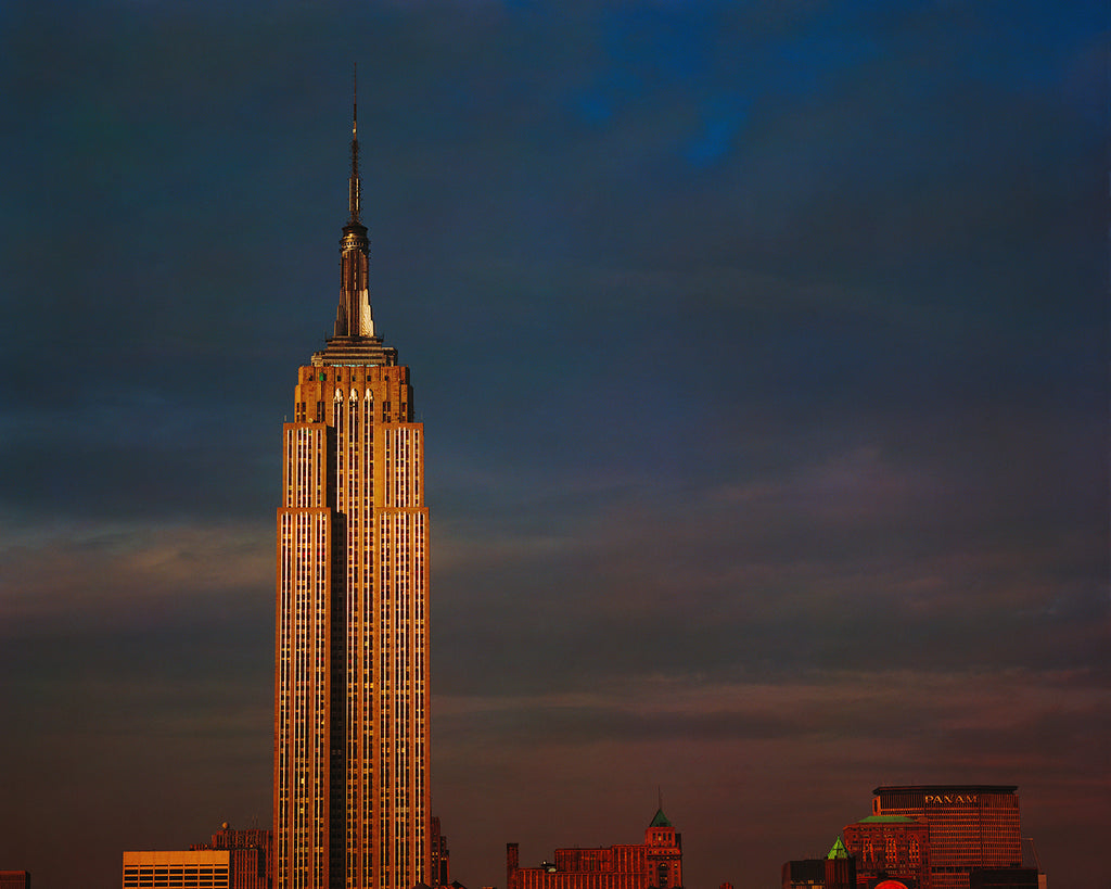 Evening view of the Empire State Building - one of the most beautiful Art Deco buildings