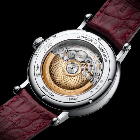 The Vacheron Constantin Métier D'art, Les Aérostiers back of watch case