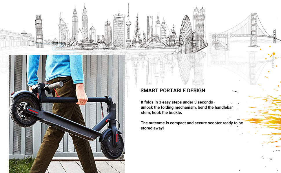 foldable and portable electric scooter