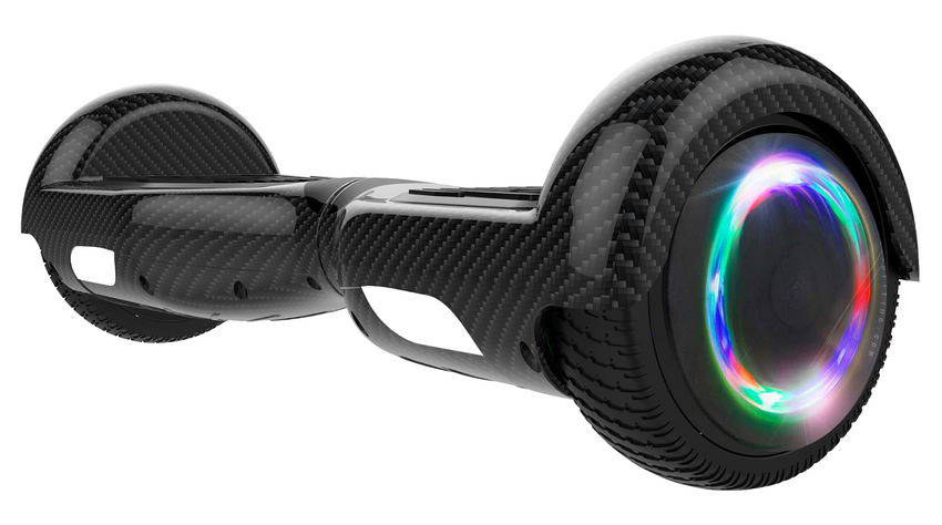 Gyrocopters Pro 6.5 Hoverboard with LED Wheels- Open Box (Carbon Black)
