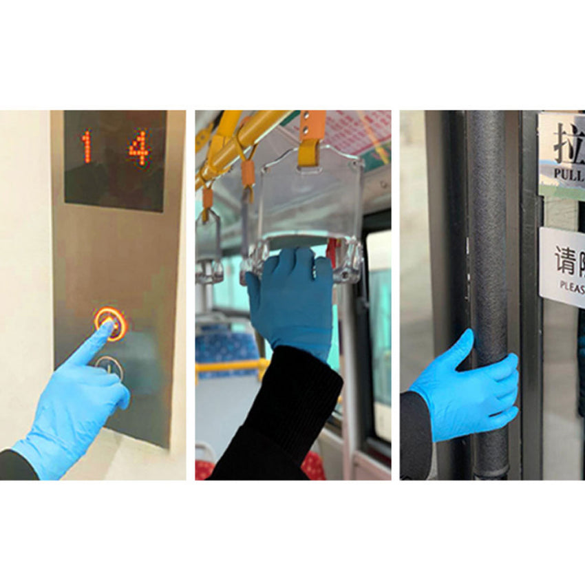 blue nitrile gloves, nitrile disposable gloves, hand protection, gloves for public safety