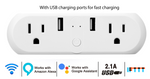 IMGadgets Dual Port Smart Wifi Plug with USB Port, No hub required - compatible w/ Amazon Alexa & Google Home