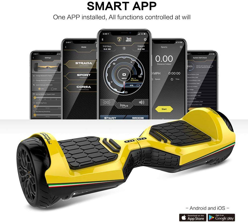 Gyrocopters- Lamborghini (authentic branded) 6.5 All Terrain Hoverboard- Yellow