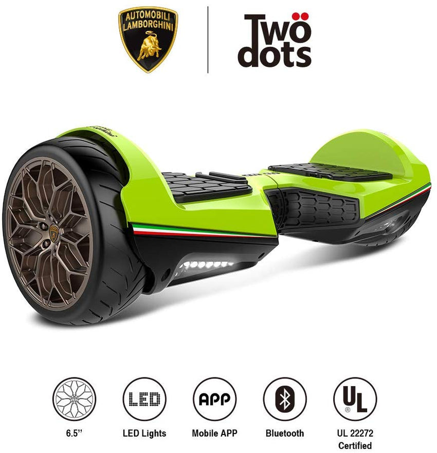Gyrocopters- Lamborghini (authentic branded) 6.5 All Terrain Hoverboard- Green