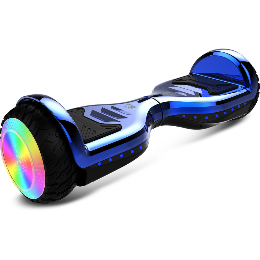 Gyrocopters PRO 6.0 All Terrain Hoverboard - Chrome Blue