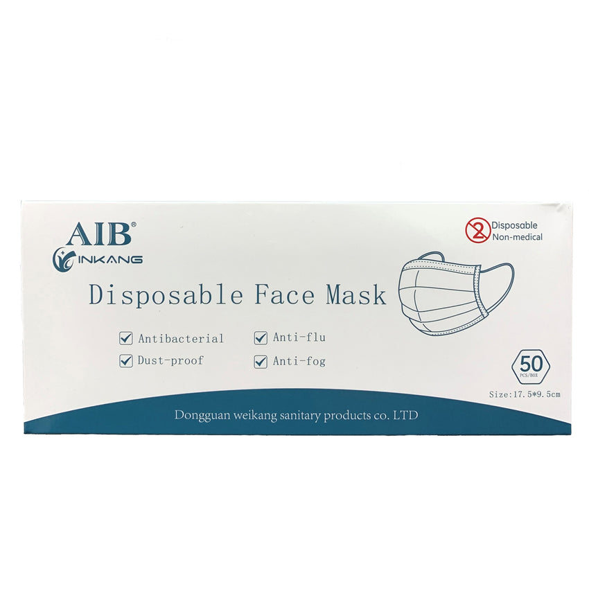 3-Ply Disposable Ear loop Sterile Anti-Pollution Face Masks- 10 Pack