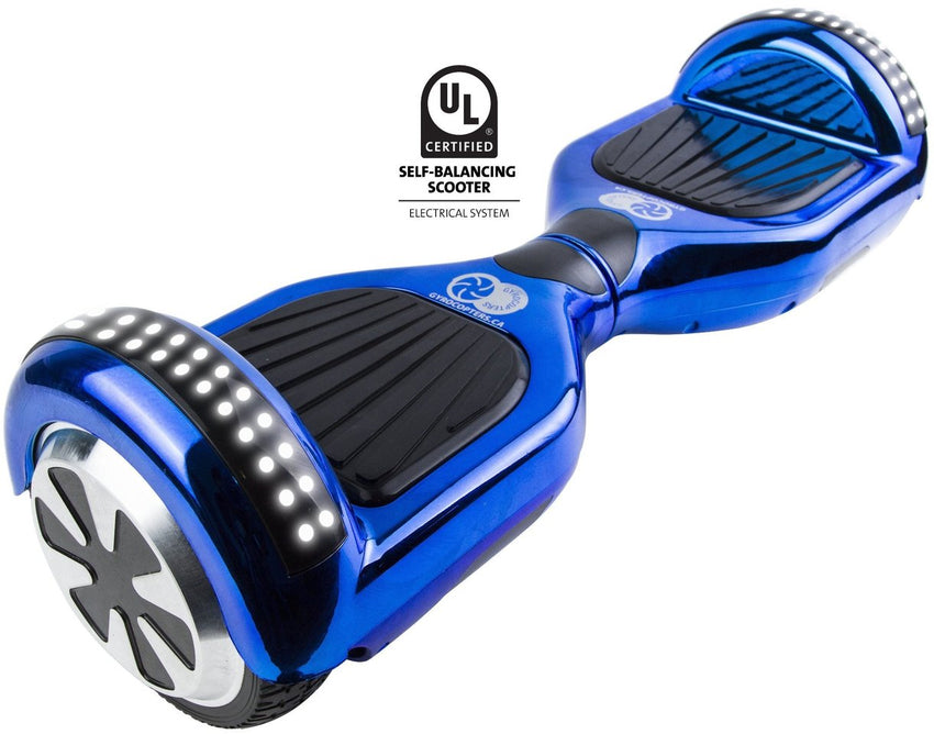 Re-certified Gyrocopters PRO 2.0 Hoverboard - UL 2272 Certified with Bluetooth, APP, LED lights and No Fall Technology
