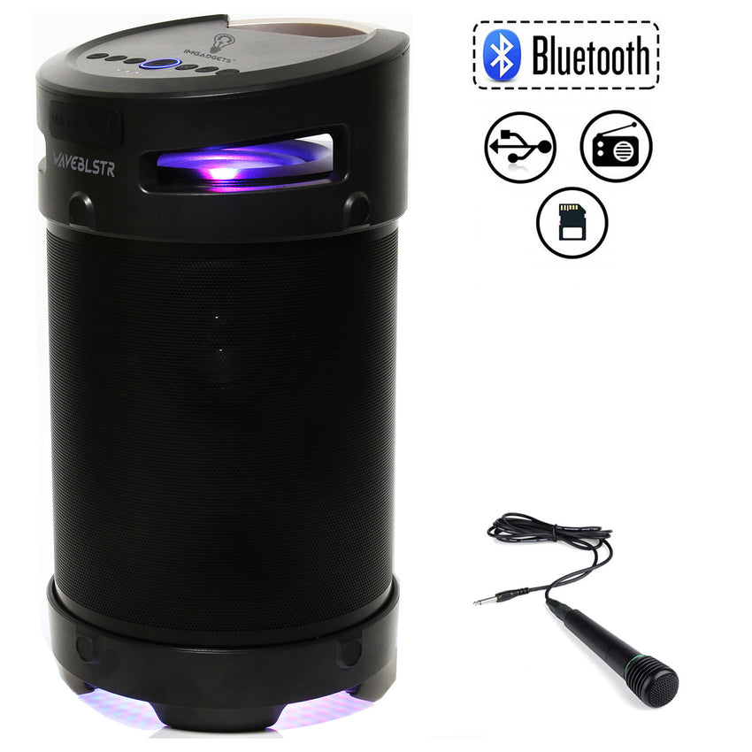 IMGadgets WaveBlstr Rechargeable Portable Bluetooth Karaoke Speaker with Microphone