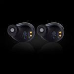 IMGadgets In-Ear Stereo Headphones, Sound Isolating TWS True Wireless Bluetooth 5.0 Wave Earbuds with Built-In Microphone