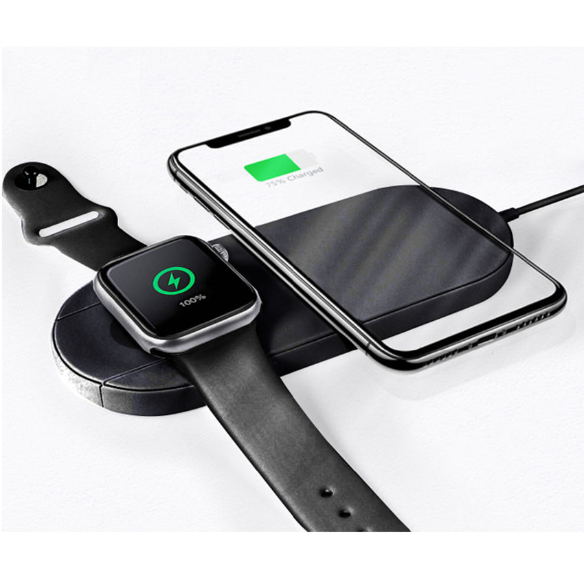 IMGadgets- Dual Wireless Charger for Smart Watch and Other Qi-Enabled Smart Devices