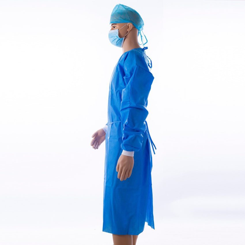 disposable protective gowns, blue protective gowns
