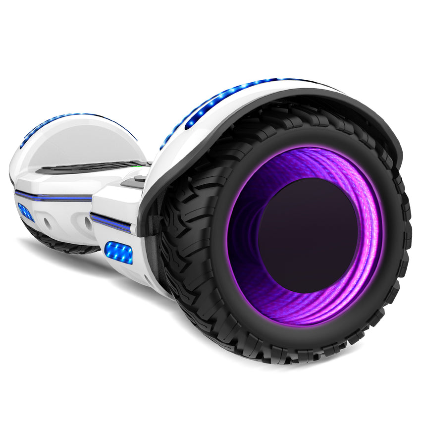 Re-certified Gyrocopters 8FINITI All Terrain Hoverboard - UL2272 certified with Mirror LED Wheels