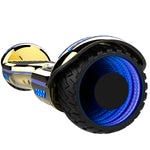 Gyrocopters 8FINITI All Terrain Hoverboard - UL2272 certified with Mirror LED Wheels - Chrome Gold