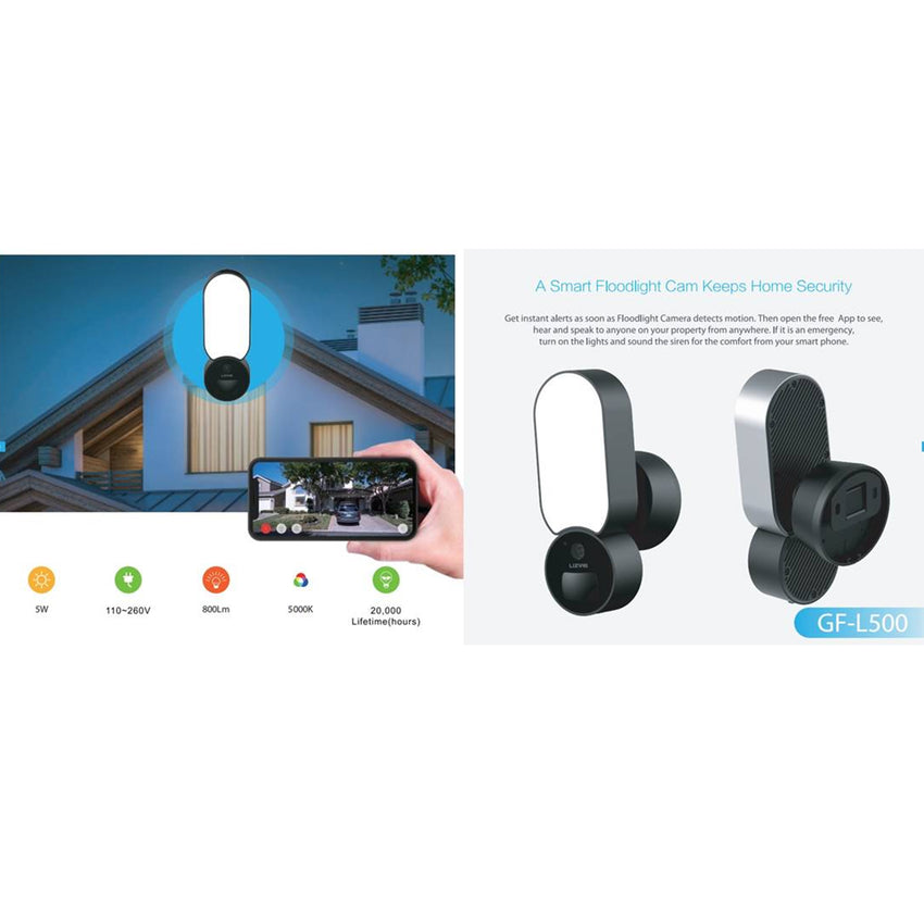 IMGadgets - Weatherproof Floodlight Home Security Camera