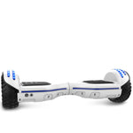Gyrocopters 8FINITI All Terrain Hoverboard with Mirror LED Wheels, APP, Carry Case, Bluetooth, No Fall Technology and UL2272 Certified – White (New Version)