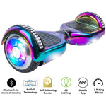 Gyrocopters PRO 4.0 Hoverboard - UL 2272 Certified with Bluetooth, LED wheels, APP,  No Fall Technology, Top and Front lights (Chrome Rainbow)