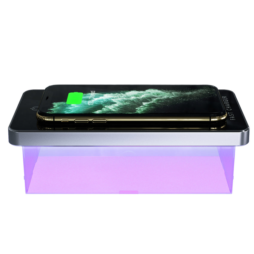 UV Portable Sterilizer Box with Fast Wireless Charger