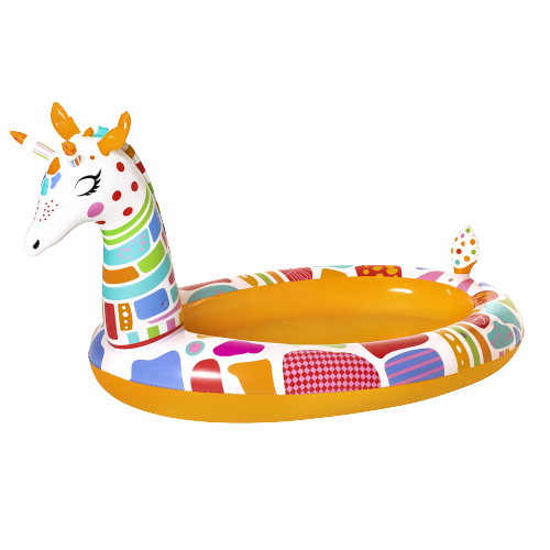 H2OGO! Groovy Giraffe Inflatable Play Pool For Kids, inflatable kiddie pool, small kiddie pool, swimming pool for backyard, swimming pool for kids, portable swimming pool, easy inflate swimming pool, H2OGO! pools for kids, above ground inflatable swimming pool