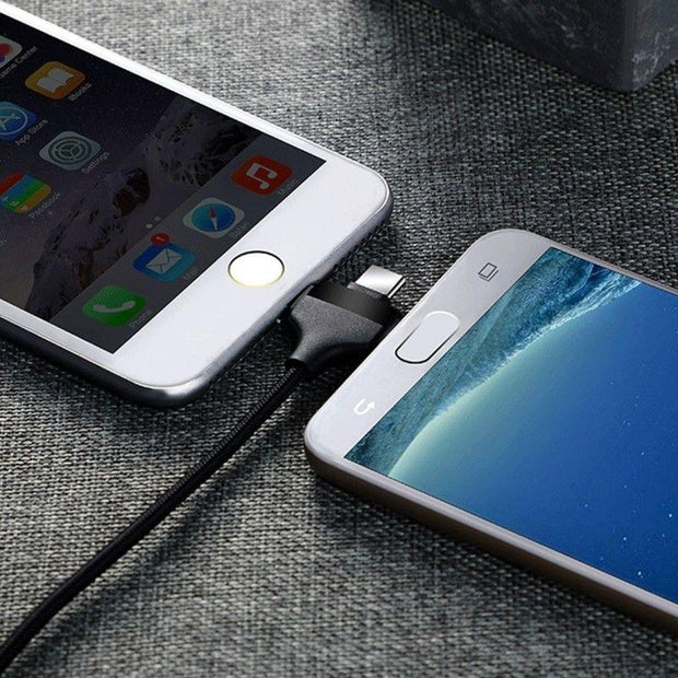3 in1 USB CABLE , MICRO USB ,TYPE C , iphone charging cable, android charging cable