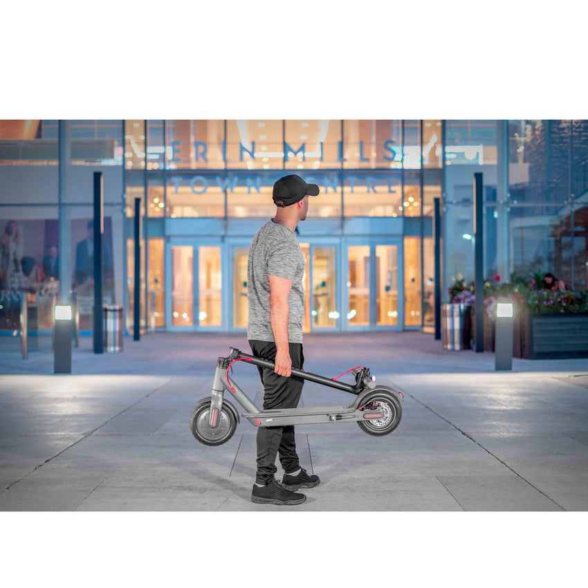 Gyrocopters Flash 2.0 Portable Electric Kick Scooter - Solid Rubber Tires - 25 Km/h Top speed - 20 Km Range - Smart Portable Design