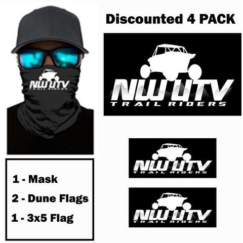 NW Trail Riders - Dune Flags + Mask - 4 Pack