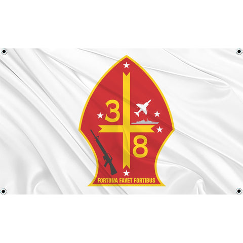3rd Battalion 8th Marines logo on white flag