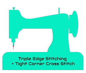 Triple Edge Stitching + Tight Corner Cross Stitch + { $2.99 }