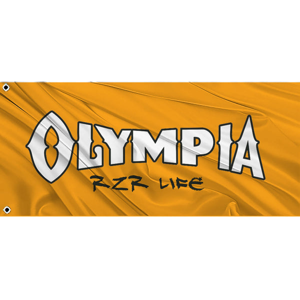 Olympia RZR Life Whip Flag with 2 grommets - Orange