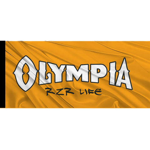 Olympia RZR Life Whip Flag with Black Sleeve - Orange