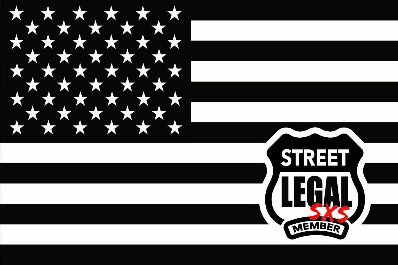 StreetLegal.us - Whip Flags - USA - Black