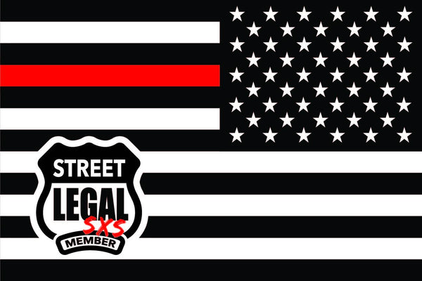StreetLegal.us - Whip Flags - Red Line