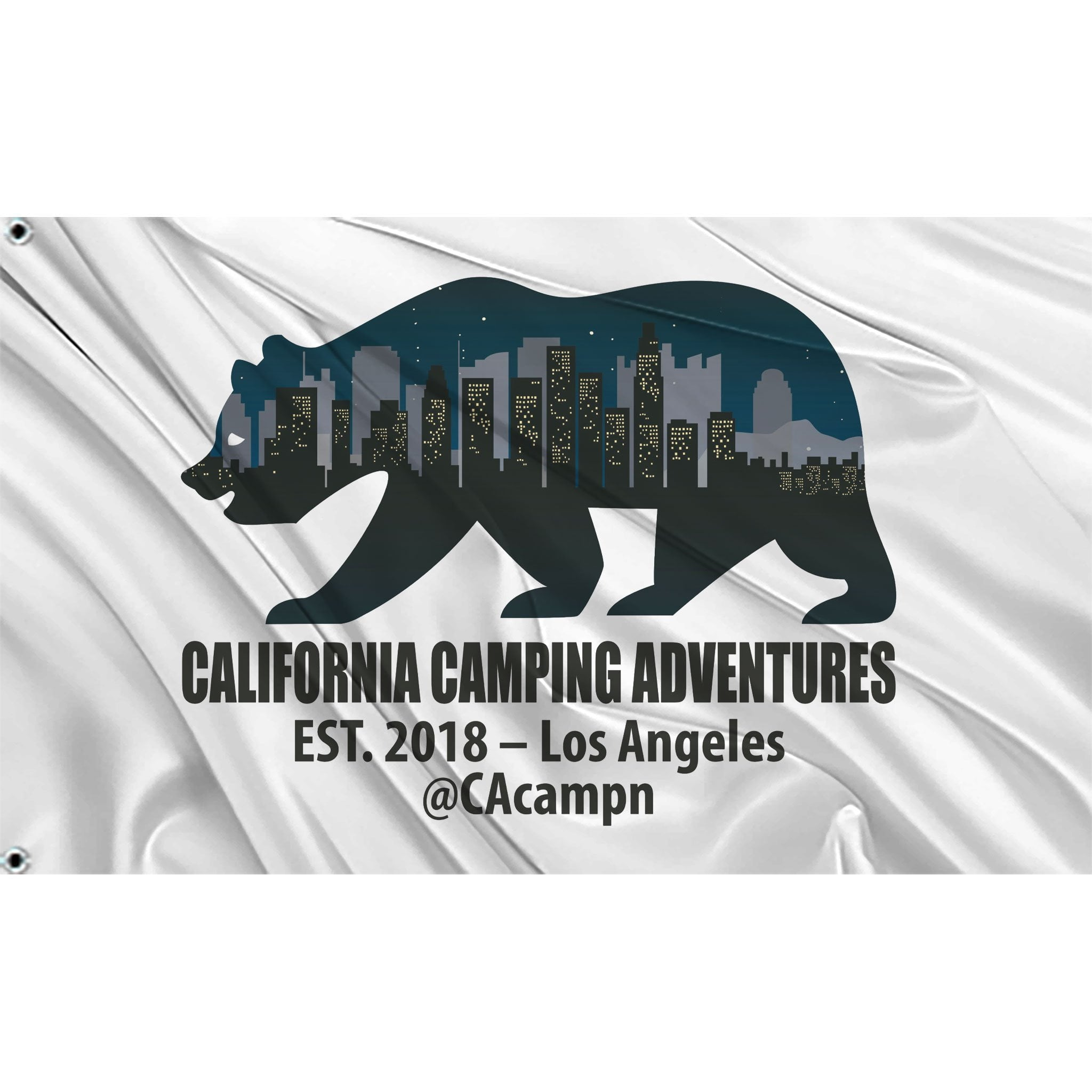 California Camping Adventures Flag