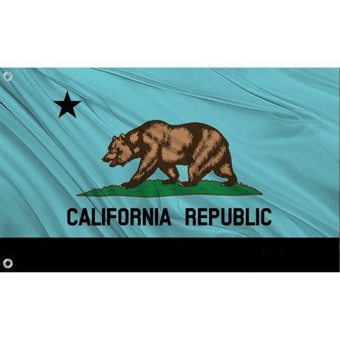 California State Flag (Aqua)