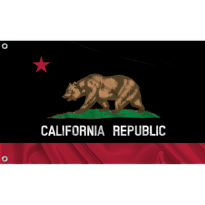 California State Flag (Black | Red)