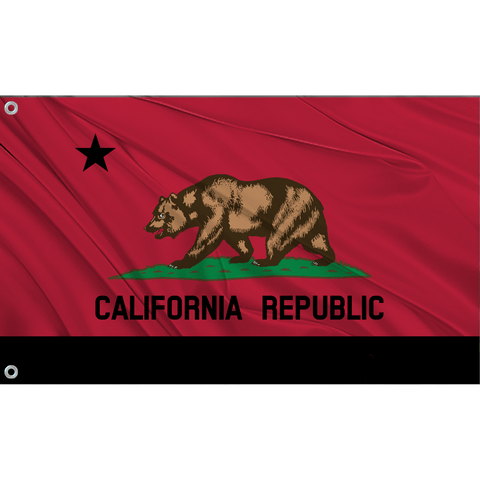 California State Flag (Red | Black)