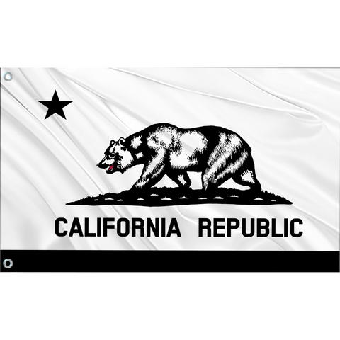 California State Flag (White | Black)