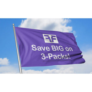 Save big on custom flag discount 3 packs on flag with blue sky background
