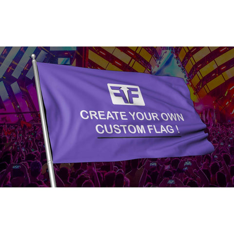 Custom Music Festival Flag on music festival stage background