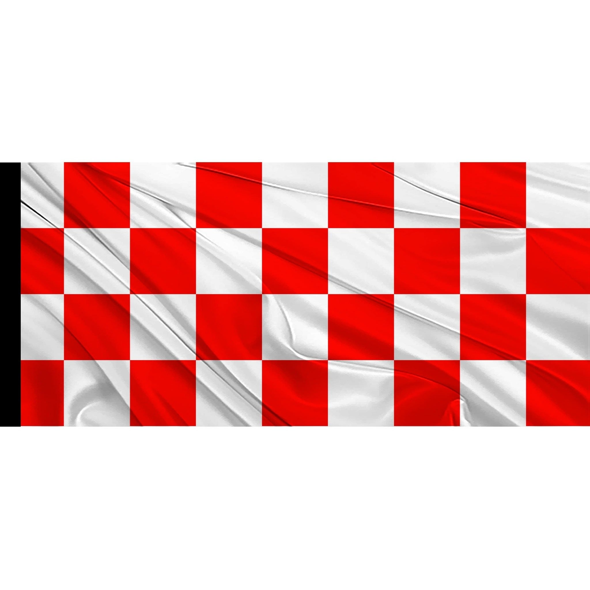 3/' x 2/' Red and White Check Flag Chequered Team Flags Banner
